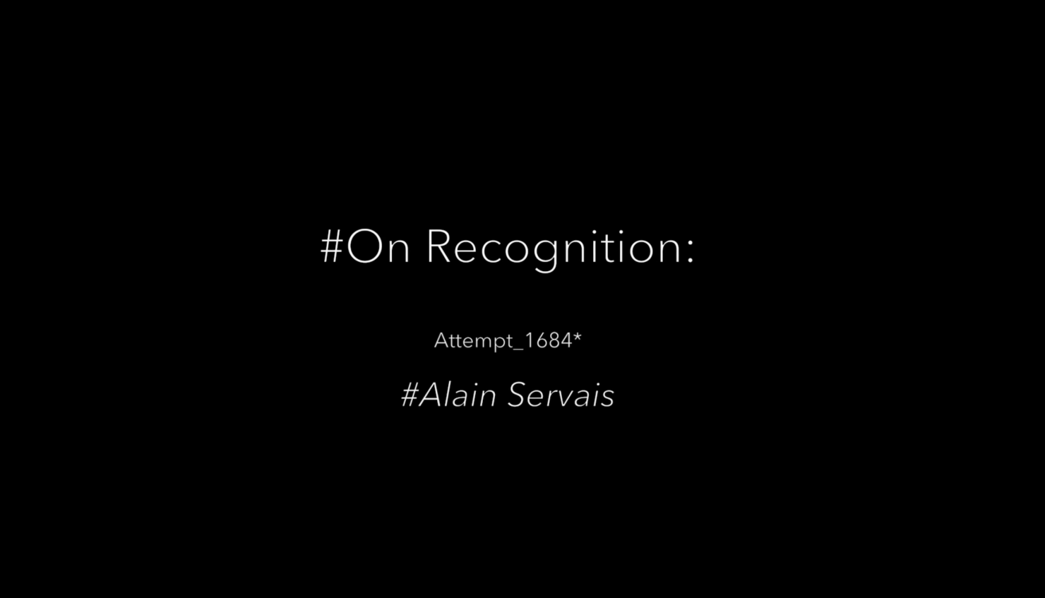 On Recognition